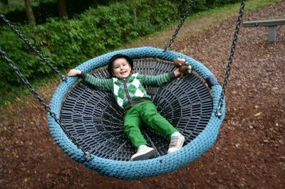 Big Boy on a Swing