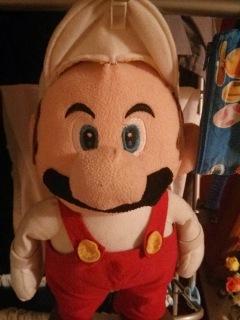 Mario drying off